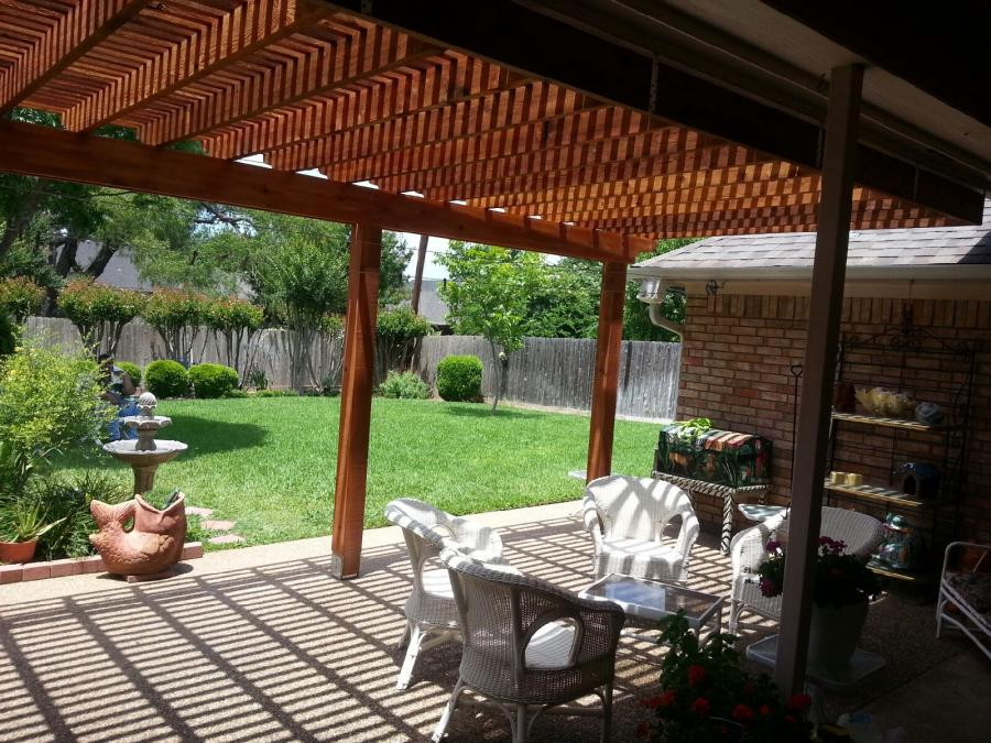 Redwoods Inc Waco - Under Pergola