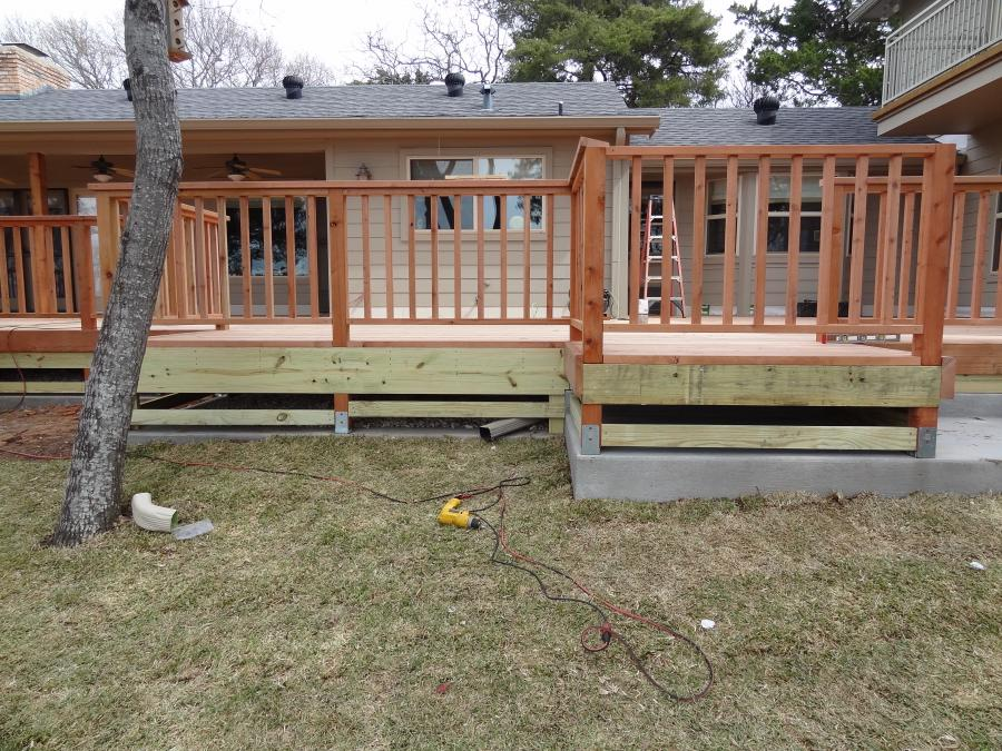 Redwoods Inc Waco - Deck Lumber Construction In Progress