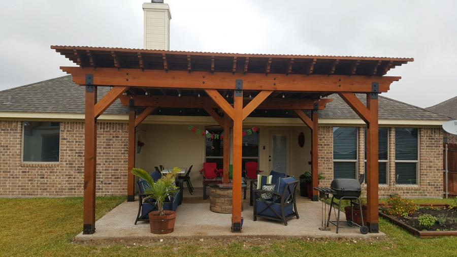 Redwoods Inc Waco - Cedar Pergola Porch Area