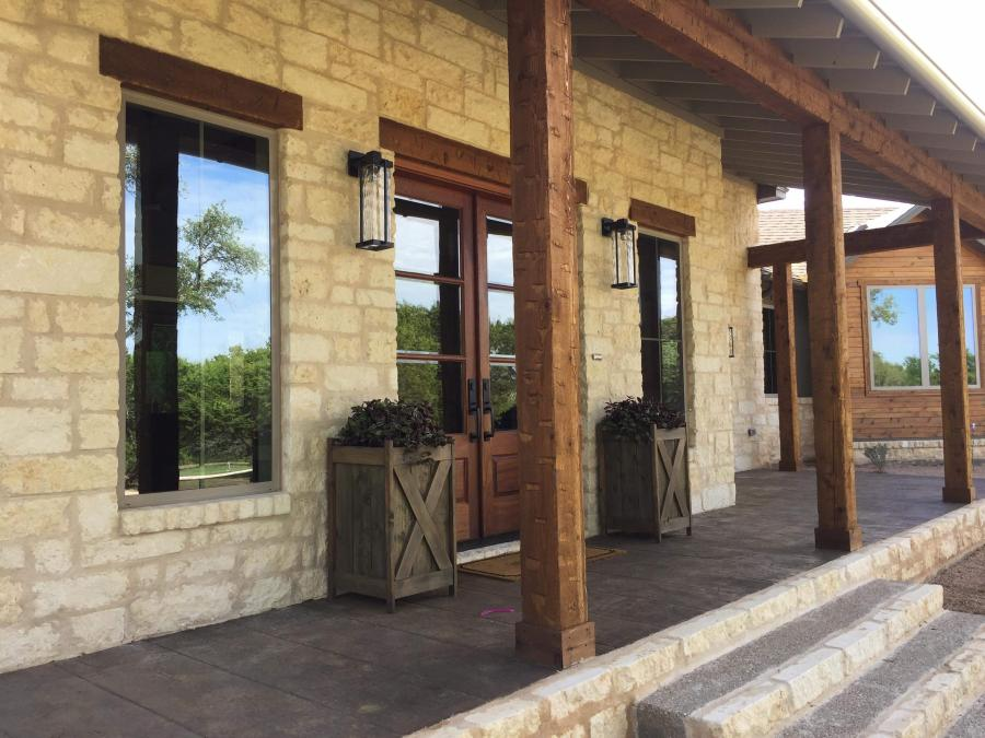 Redwoods Inc Waco - Wood Columns Lumber Project