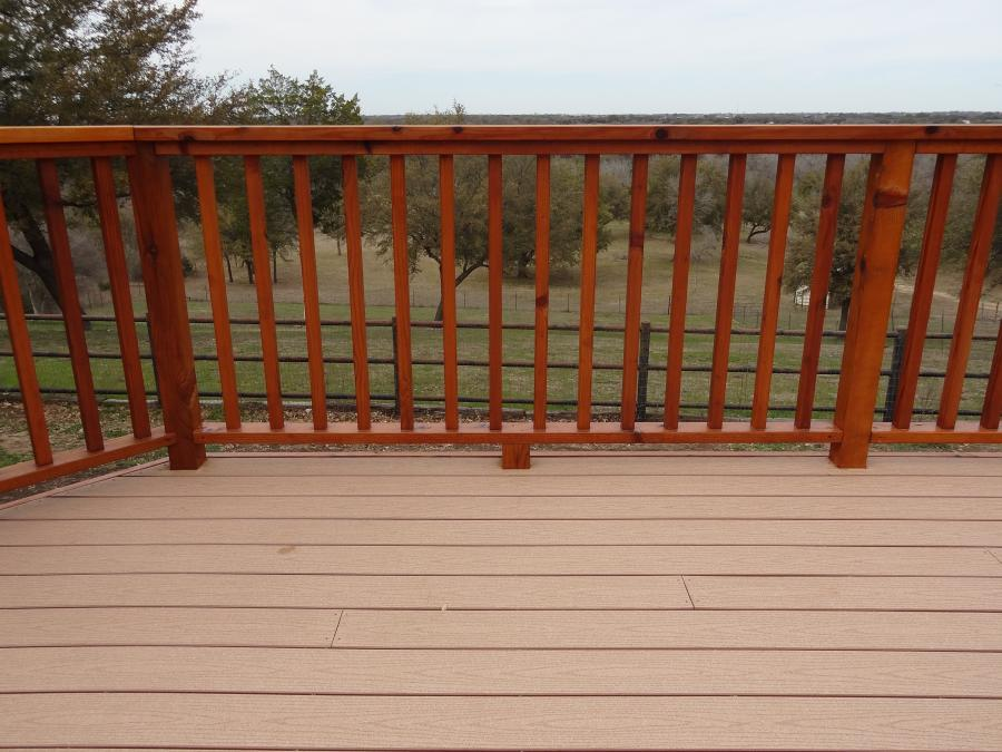 Redwoods Inc Waco - Cedar Deck Railing Project