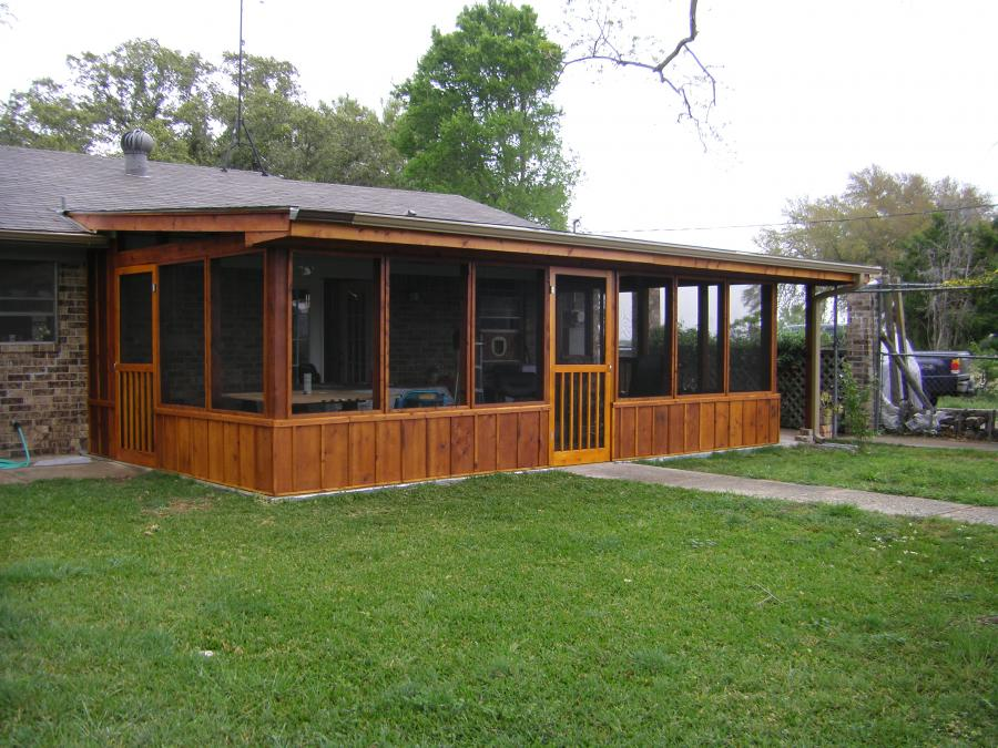 Redwoods Inc Waco - Cedar Screened-In Porch Addition