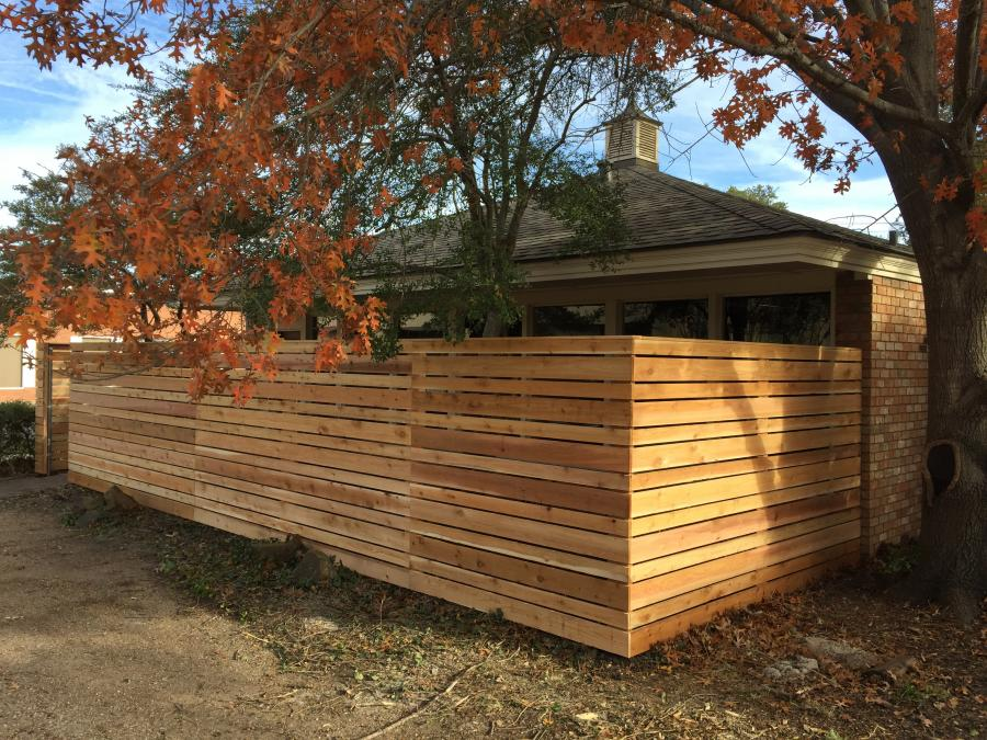 Redwoods Inc Waco - Custom Yard Fence Lumber Project