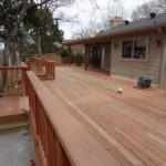 Redwoods Inc Waco - Red Cedar Decking with Steps