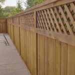Redwoods Inc Waco - Pool Wood Privacy Fence with Lattice Top
