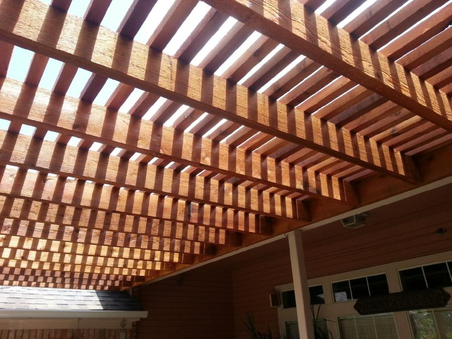 Redwoods Inc Waco - Red Cedar Pergola Beams Project