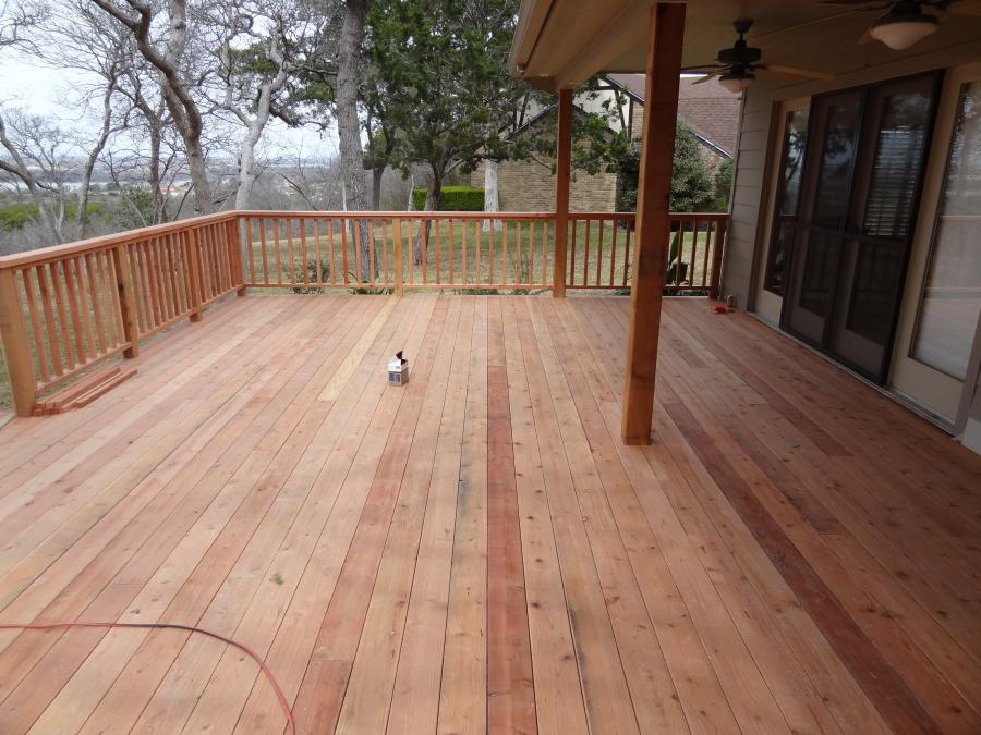 Redwoods Inc Waco - Red Cedar Deck & Railing Construction