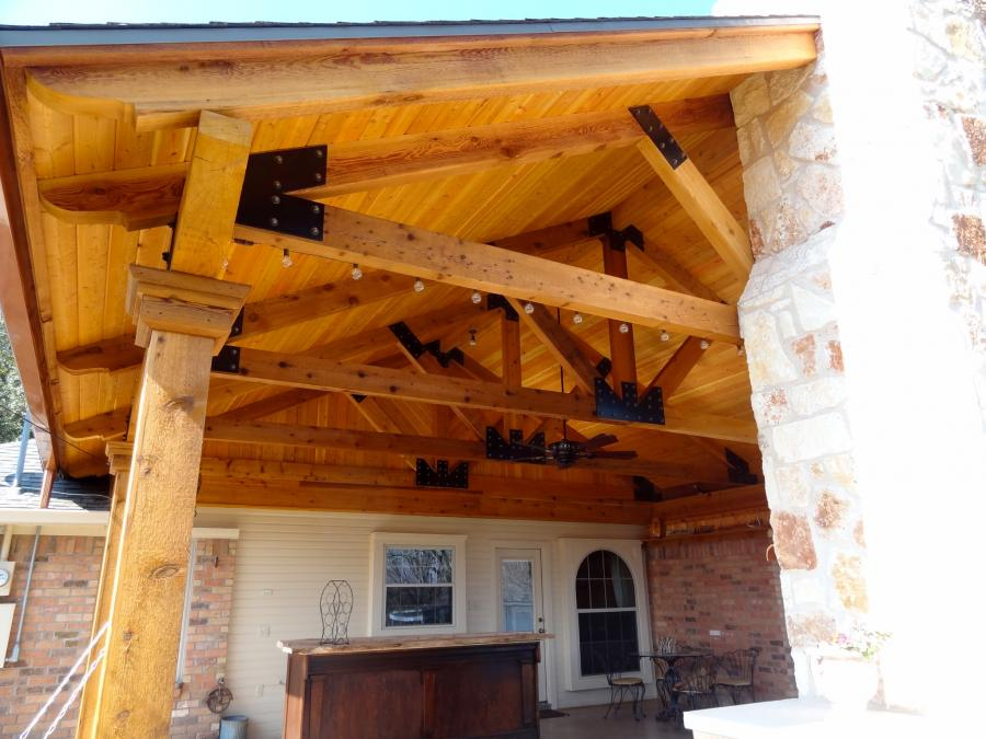 Redwoods Inc Waco - Cedar Lumber Outdoor Kitchen Construction Project
