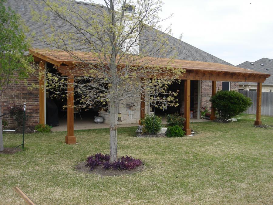 Redwoods Inc Waco - Roof Extensions Cedar Roof & Columns