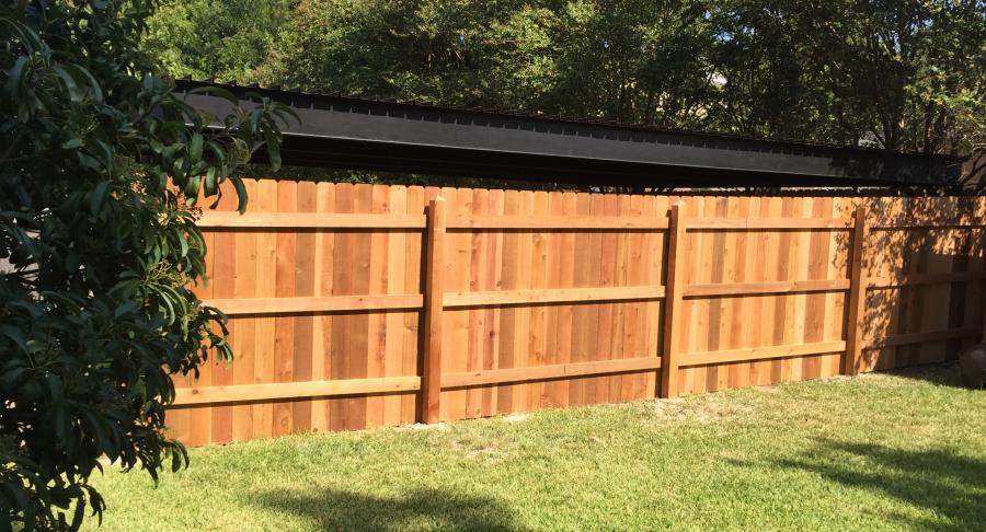 Redwoods Inc Waco - Red Cedar Privacy Fence Project