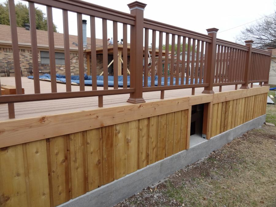 Redwoods Inc Waco - Pool Deck with Railing & Crawl Space