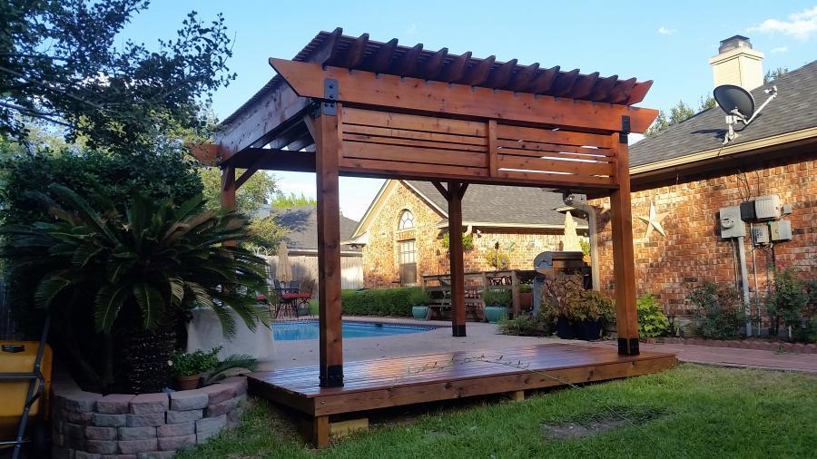 Redwoods Inc Waco - Pool Pergola Lumber