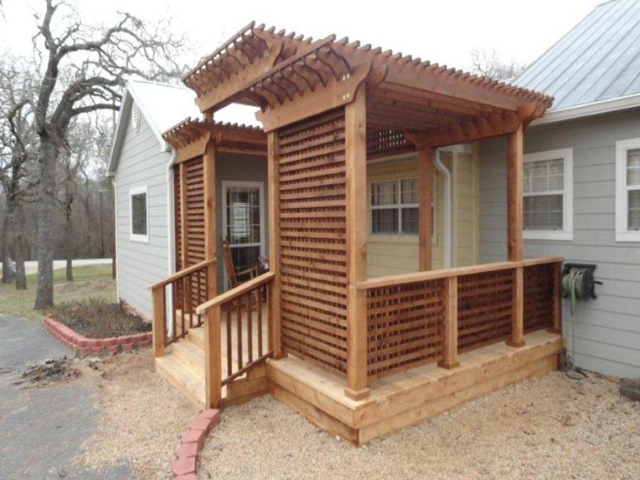 Redwoods Inc Waco - Custom Lattice, Steps & Pergola Project