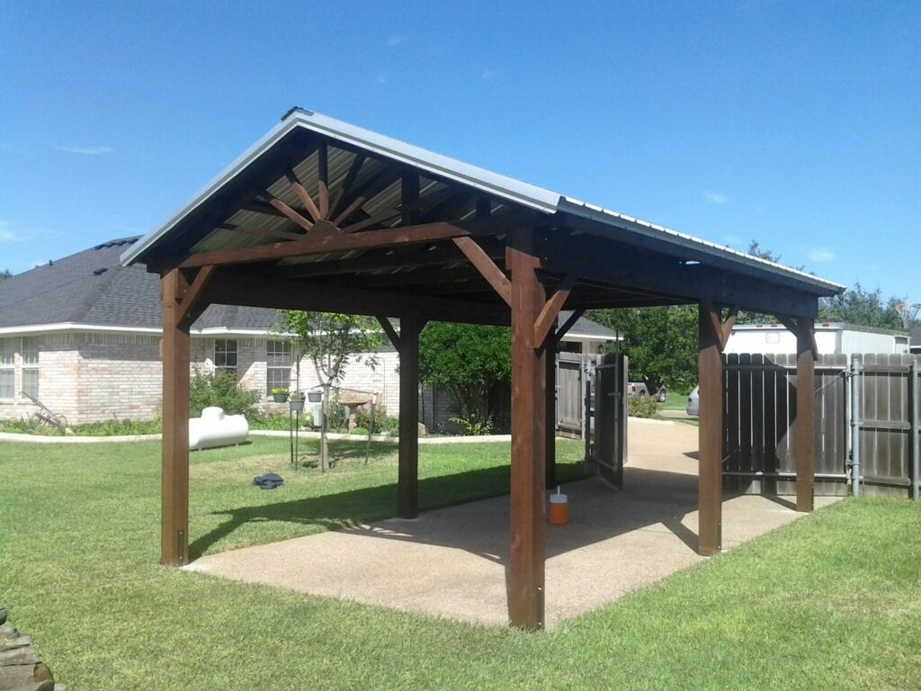 Redwoods Inc Waco - Lumber Awning Construction Project