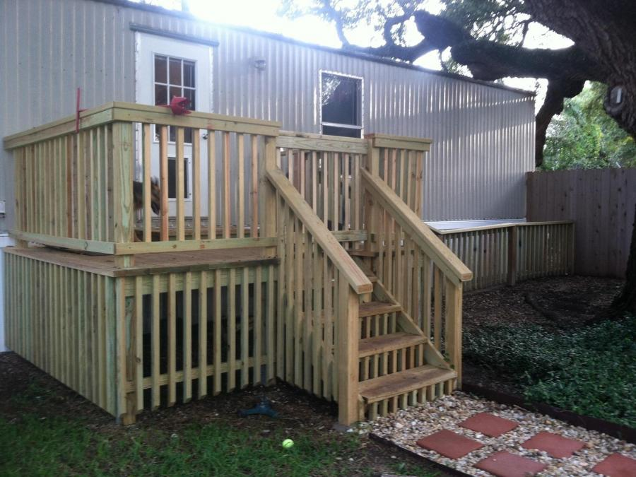 Redwoods Inc Waco - Treated Yellow Pine Porch Project