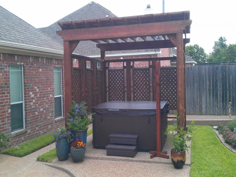 Redwoods Inc Waco - Hot Tub Pergola Privacy Fence