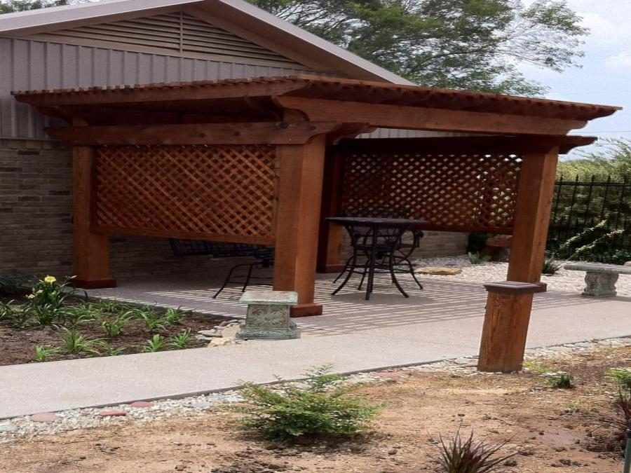Redwoods Inc Waco - Redwood Cedar Covered Outdoor Area & Lattice