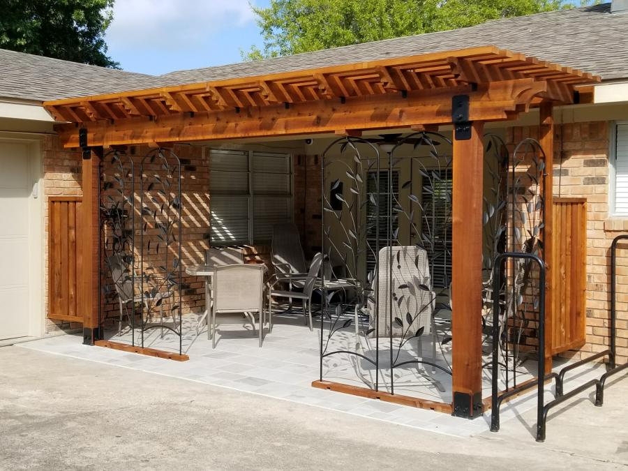 Redwoods Inc Waco - Outdoor Covered Sitting Area Redwood Lumber