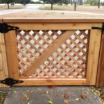 Redwoods Inc Waco - Lattice Fence & Gate Project