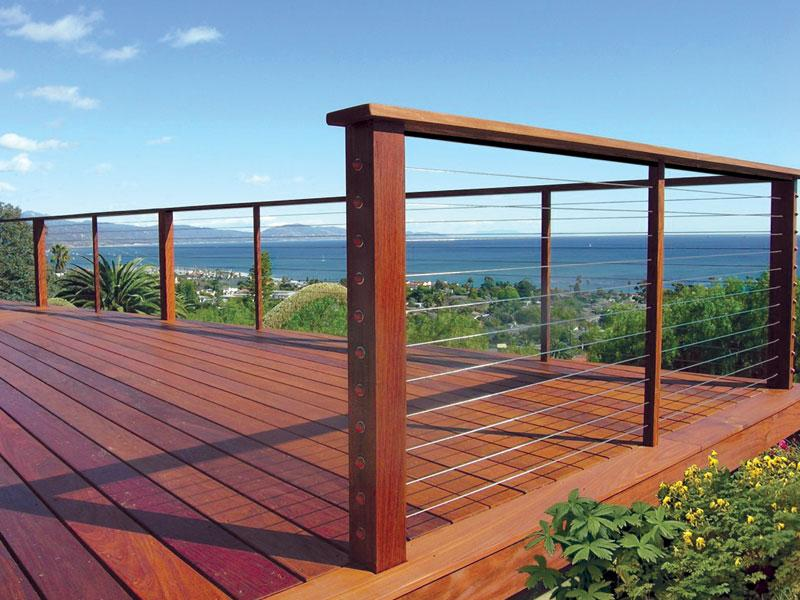 Redwoods Inc Waco - Cable Railing and Red Cedar Deck