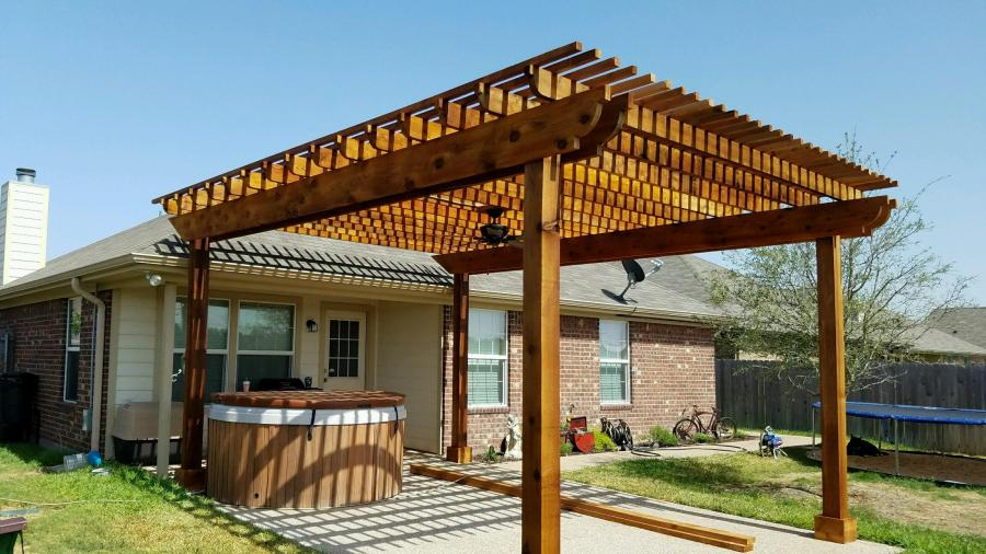 Redwoods Inc Waco - Pergola for Hot Tub & Covered Patio Area