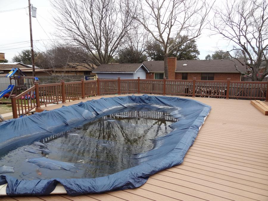 Redwoods Inc Waco - Above Ground Pool Deck & Railing Project