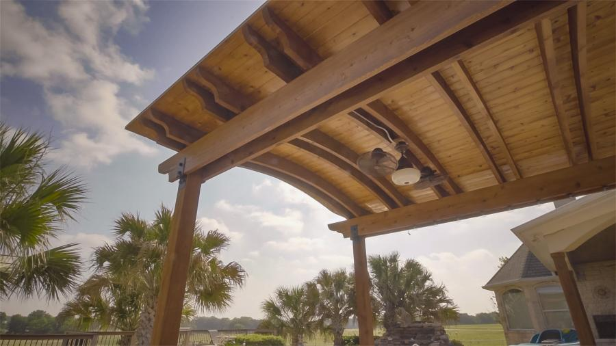Redwoods Inc Waco - Covered Awning Cedar & Bracing