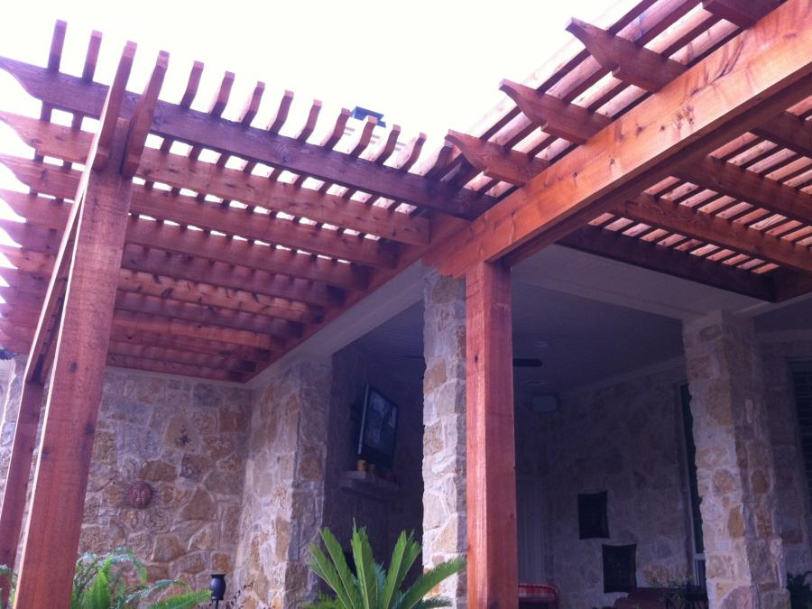 Redwoods Inc Waco - Red Cedar Pergola Extension Project