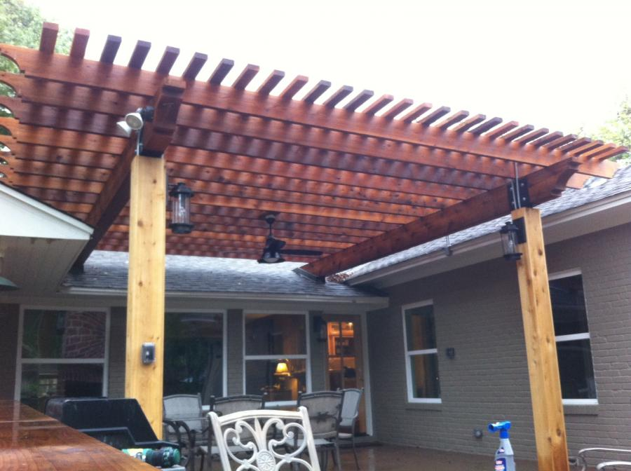 Redwoods Inc Waco - Back Porch Pergola Covering