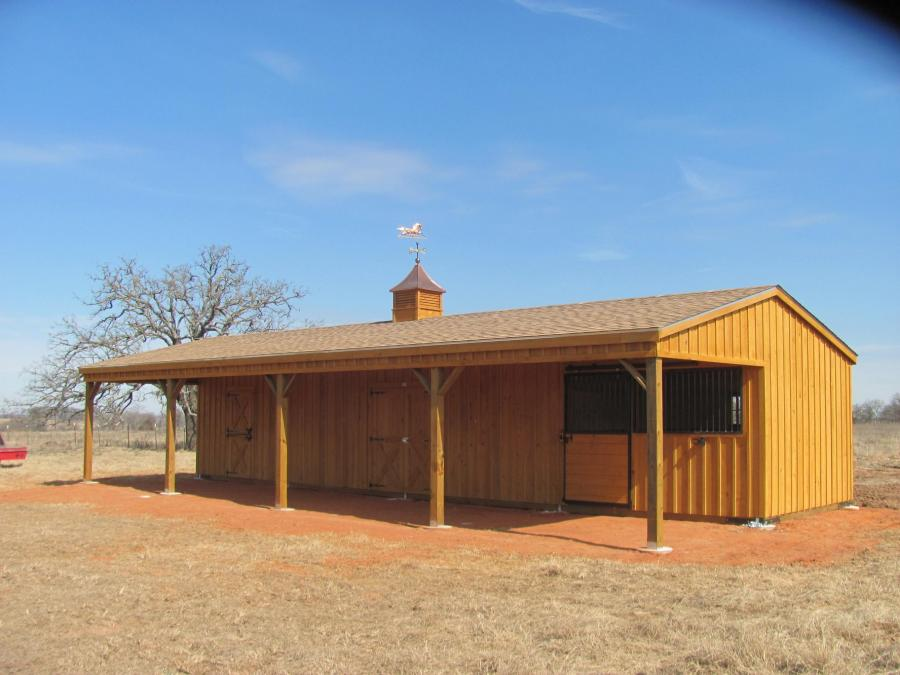 Redwoods Inc Waco - Cedar Horse Barn Submission