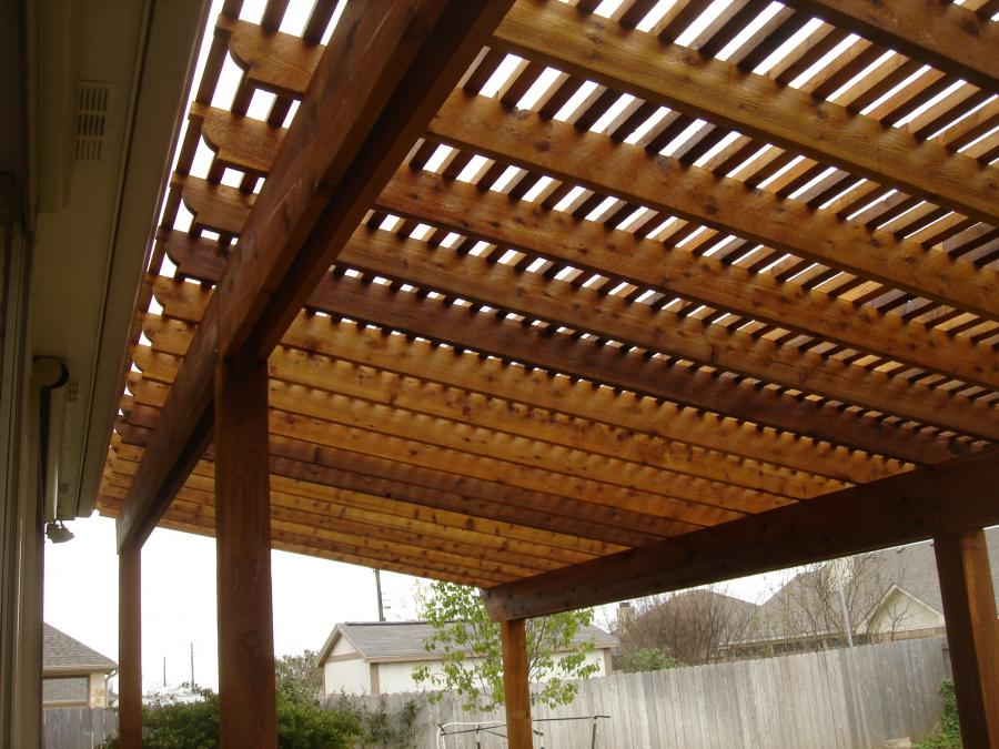 Redwoods Inc Waco - Pergola Under Side