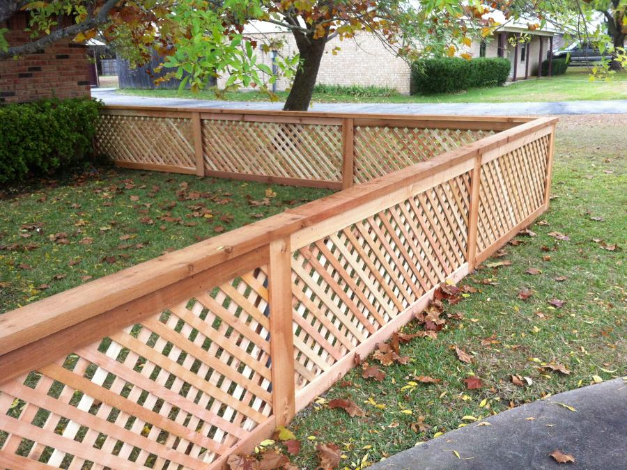 Redwoods Inc Waco - Cedar Yard Fence Lattice with Wood Frame