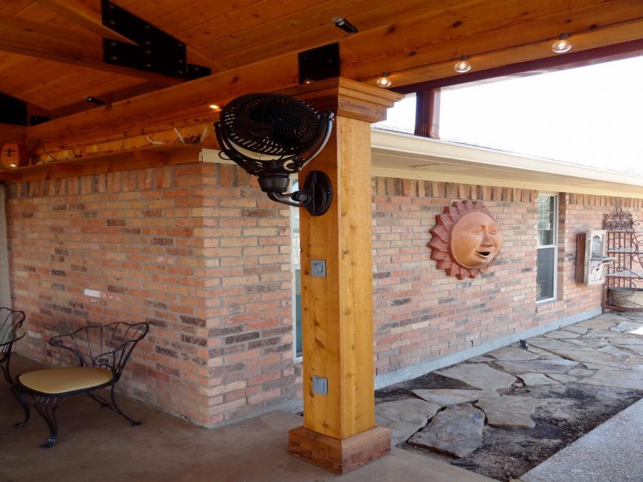 Redwoods Inc Waco - Cedar Pillar Wrap Lumber