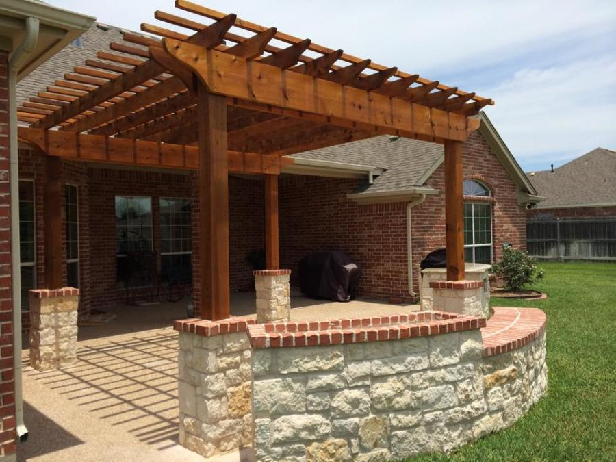 Redwoods Inc Waco - Cedar Porch Awning Submission