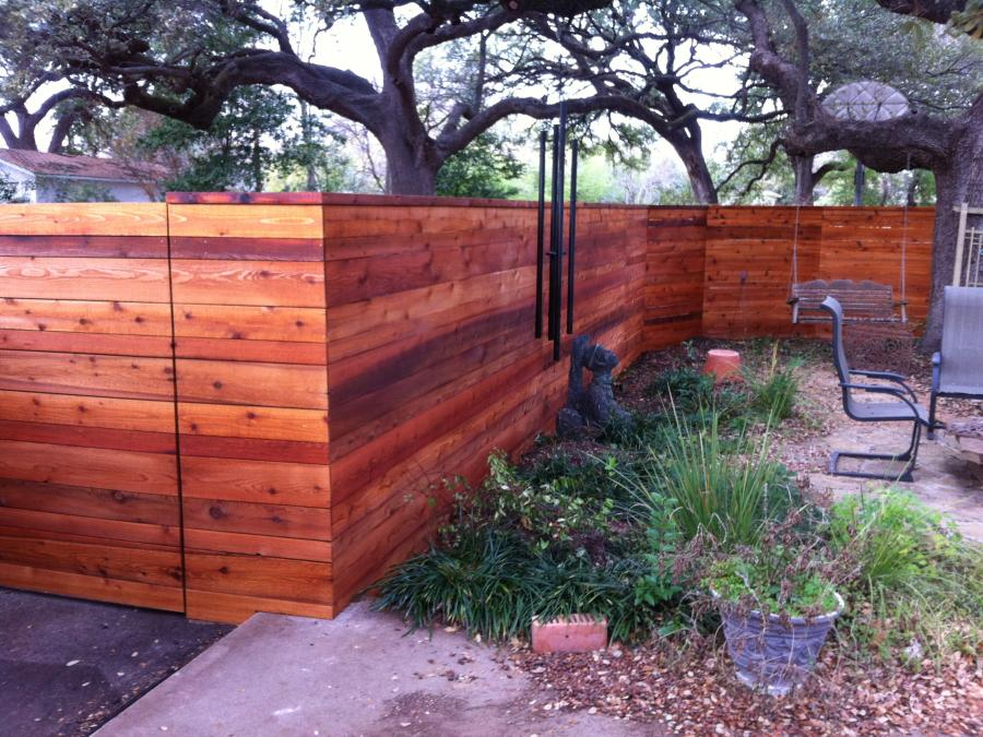Redwoods Inc Waco - Cedar Wall Project Stained