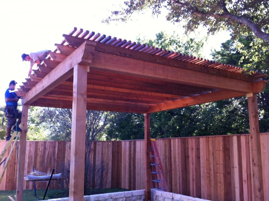 Redwoods Inc Waco - Pergola Construction in Progress