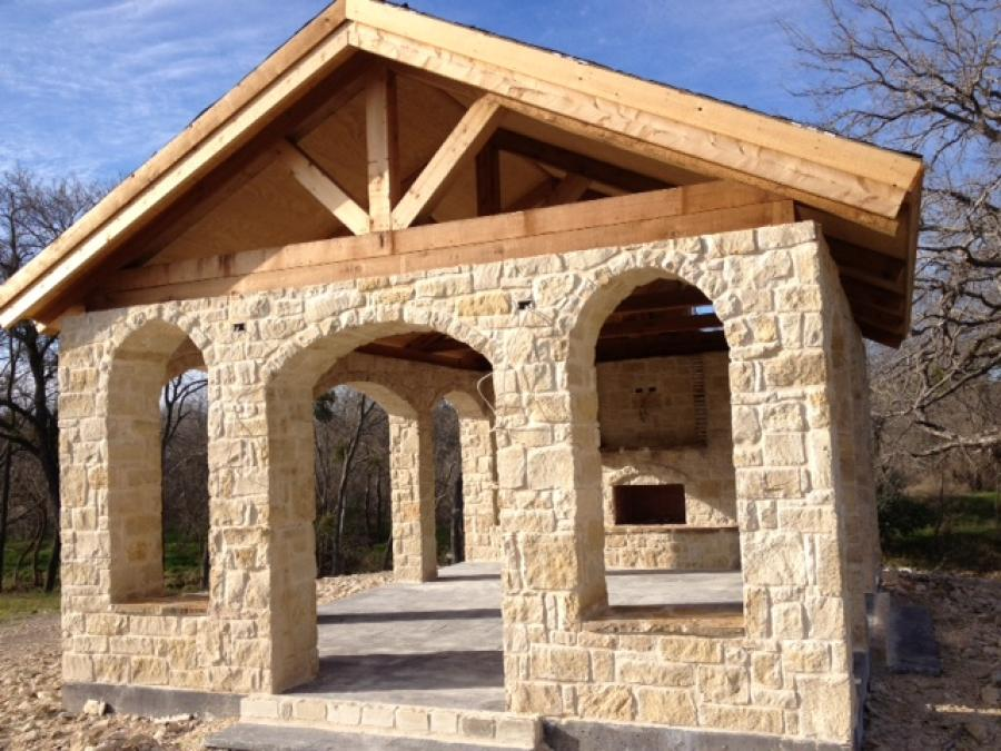 Redwoods Inc Waco - Cedar Outdoor Kitchen Area Beams & More