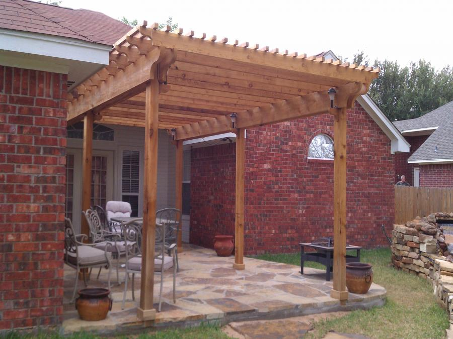 Redwoods Inc Waco - Pergola with Lighting & Columns