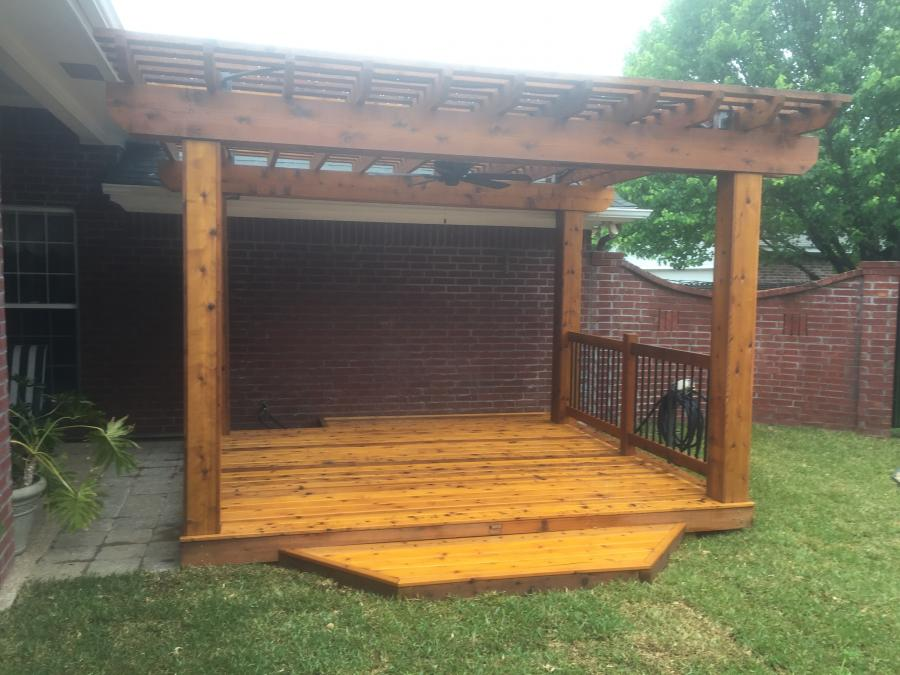 Redwoods Inc Waco - Outdoor Pergola with Deck Flooring