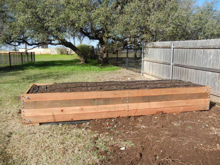 Redwoods Inc Waco - Raised Cedar Garden Box Construction