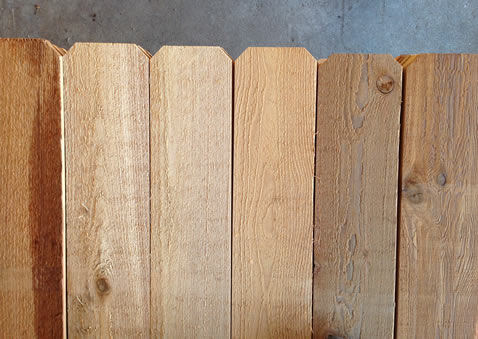 Western Red Cedar Fence Pickets - Redwoods, Waco